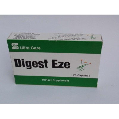 Digest Eze ( bromelain + papian + chamomile + ginger root + peppermint oil + anise flavour + fennel seed powder ) 20 capsules