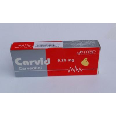 Carvid ( carvidolol 25 mg ) 20 tablets