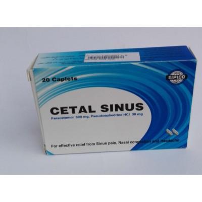 CETAL SINUS (paracetamol + pseudoephedrine HCl ) 20 caplets