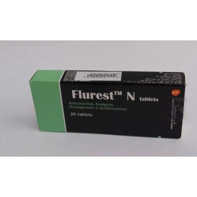 Flurest N ( paracetamol +phenylepherin + chlorpheniramin ) 20 tablets