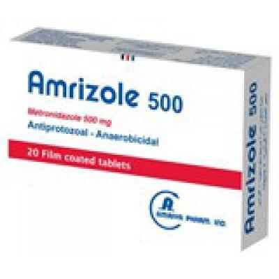 Amrizole ( metronidazole 500 mg ) 20 film coated antiprotozoal - anaerobicidal