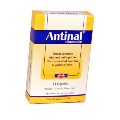 Antinal ( nifuroxazide ) 24 capsules