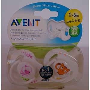 avent silicon pacifiers 0-6m