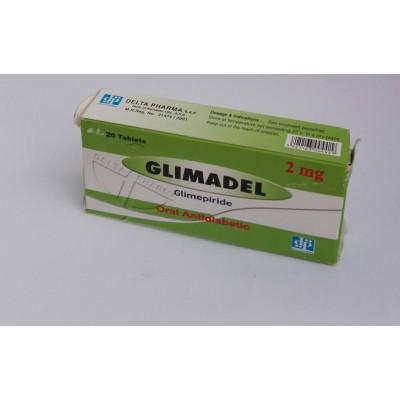 GLIMADEL ( Glimepiride 2 mg ) 20 tablets