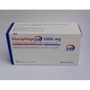 Glucophage xr ( Metformin hydrochloride 1000 mg ) 30 tablets
