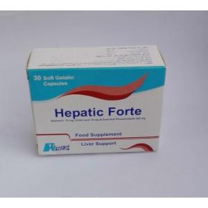 Hepatic Forte ( silymain 70 mg + Orotic acid 10 mg + essential phospholipids 300 mg ) 30 soft gelatin capsules