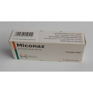 Miconaz ( Miconazole Nitrate 400 mg ) 3 vaginal ovules