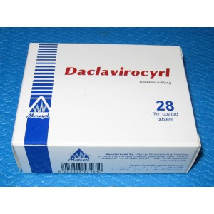 Daclavirocyrl ( Daclatasvir 60 mg ) 28 film coated tablets