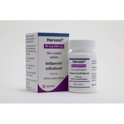 Harvoni (ledipasvir 90 mg  + sofosbuvir 400 mg  ) 28 coated tablets