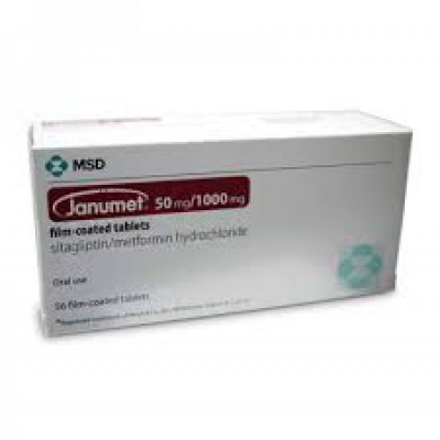 Janumet 50mg /1000mg 56 tablets(sitagliptin/metformin HCl)