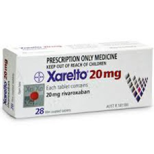 Xarelto 20mg(Rivaroxaban) 28 tablets