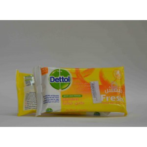 dettol anti bacterial skin wipes hygienically cleanses and sooth for fresh skin 10 wipes