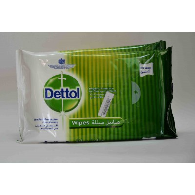 dettol anti bacterial skin wipes hygienically cleanses and sooth for sensitive skin 40 wipes
