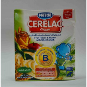 cerelac  fruit pieces&honey& wheat with milk stage 3 from 12 months on wards 200 gm