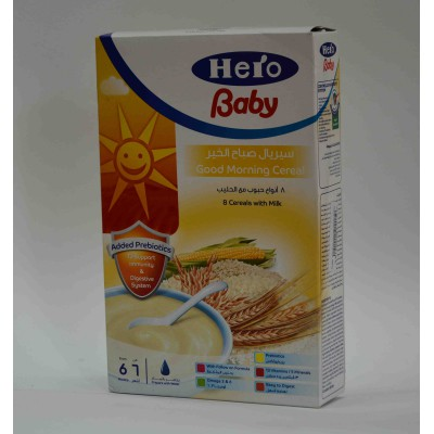 hero baby 8 cereals with milk 150 gm 6months