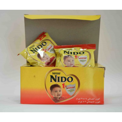 nido +1 spray dried milk made 14 sachet 406 gm