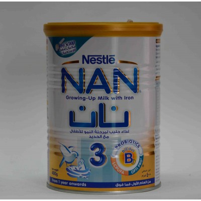 Nestle NAN 3 growing up milk with iron from one year on wards 400gm