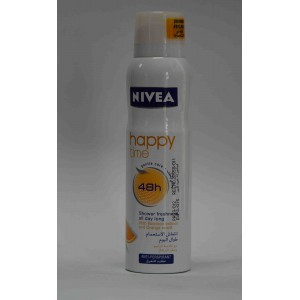 nivea anti perspirant happy time with bamboo extract and orange scent 150ml