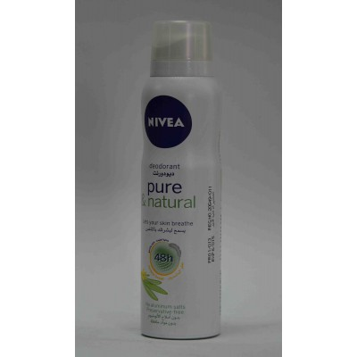 nivea anti perspirant lets your skin breathe 48h 150ml