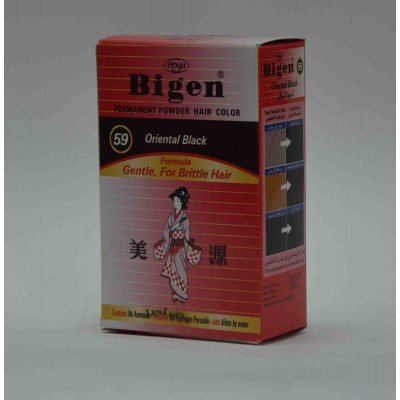 bigen powder hair color oriental  black gentle for brittle hair