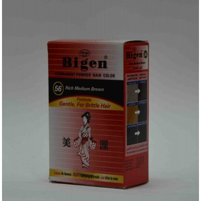 bigen powder hair color rich medium brown gentle for brittle hair