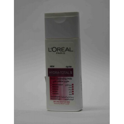 LOREAL paris rich cleansing milk for dry and sensitive skin 200ة ml