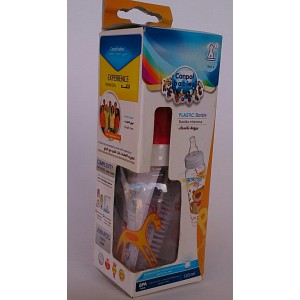 canpol babies plastic bottle& 120ml 3m+