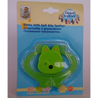 canpol babies rattle with soft bite teether