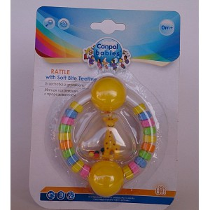 canpol babies rattle with soft teether 0m+