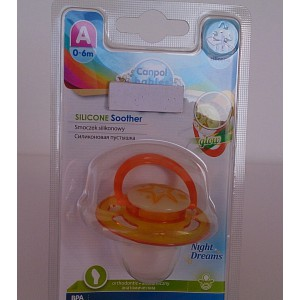 canpol babies  silicone soother 0-6m