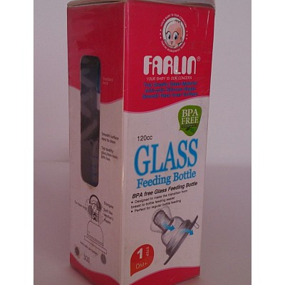 farlin glass feeding bottle 120ml