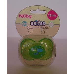 nuby silicone pacifier 18m+