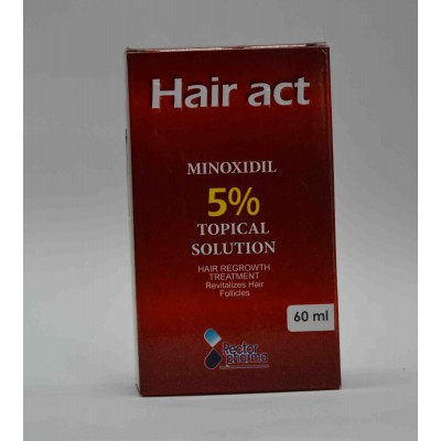 hair act topical solution hair regrowth treatment  revitalizes hair follicles 60ml