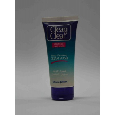 clean & clear deep cleansing cream wash 100ml