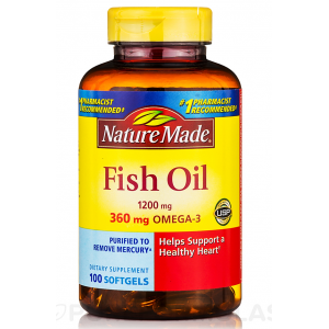 Fish Oil 1200 mg Nature Made ( Omega - 3 360 mg ) 100 Liquid Softgels