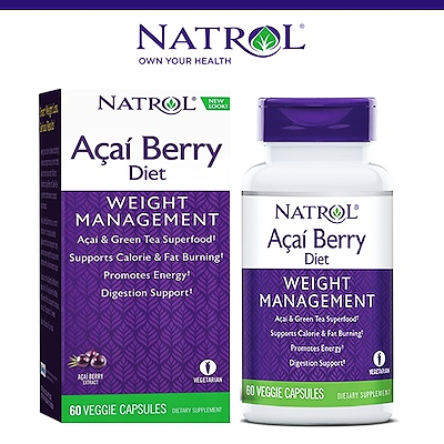 Acai Berry Diet Natrol ( Acai + Green Tea )  Weight Management 60 Capsules