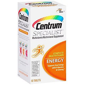 Centrum ® Specialist Energy  Complete Multivitamin / Multimineral supplement  60 tablets