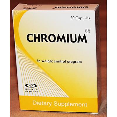 Chromium 200 mcg Mepaco ( Chromium ) 20 capsules