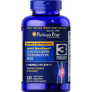 GLUCOSAMINE CHONDROITIN MSM JOINT SOOTHER DOUBLE STRENGTH   Puritan's Pride 120 capsules