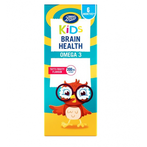 Kids Brain Health + 6 months OMEGA 3  tutti fruity flavour 200 mL syrup