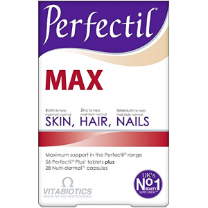 PERFECTIL MAX SKIN , HAIR , NAILS   ( 56 PERFECTIL PLUS Tablets + 28 NUTRIDEMAL Capsules)