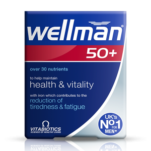 Wellman 50 + / Plus 50 with Iron  30 capsules  To help maintain Health & Vitality