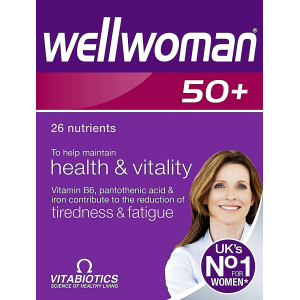 Wellwoman 50 + / Plus 50  30 tablets  Vitamin B 6 , Pantothenic Acid & Iron