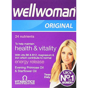 Wellwoman Original 30 capsules  with vitamins minerals Evening Primrose Oil & Starflower Oil  To maintain health & Vitality