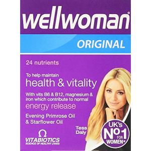 Wellwoman Original 30 capsules  with vitamins minerals Evening Primrose Oil & Starflower Oil  To maintain health & Vitality