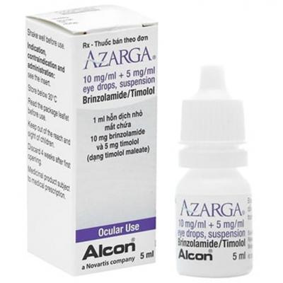 AZARGA ( brinzolamide 10 mg / ml + timolol 5 mg / ml ) eye drops 5 ml