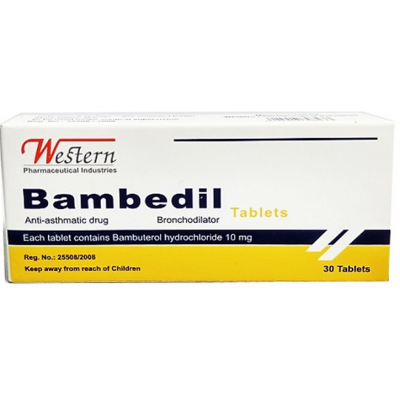 Bambedil 10 mg ( bambuterol ) 30 tablets