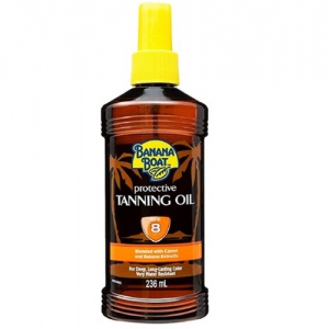 Banana Boat Protective Tanning Oil  SPF 8 Blended with Carrot & Banana Extracts 236 ml