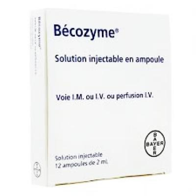 Becozyme Injection ( Vitamins B1 + B2 + B3 + B5 + B6 ) IM / IV 12 ampoules