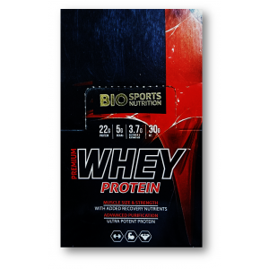 Bio Sports Nutrition Premium Whey Protein Powder For Muscle Size & Strength 420 Gm / 14 Sachets
